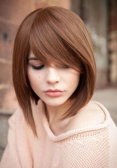 Super new haircuts for season: the TOP 7 of trends for different hair lengths Hairstyles With Bangs, Pretty Hairstyles, Straight Hairstyles, Medium Hair Styles, Short Hair Styles, Bob Styles, Asymmetrical Bob Haircuts, Stylish Haircuts, Human Hair Wigs