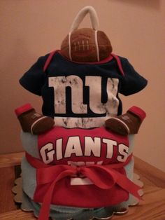 My First Touchdown 2 tier Diaper Cake