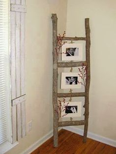 Simple And Easy DIY Home Decorating Ideas Decozilla. cute do do with my old ladder that I now have blankets hanging on. Diy Home Decor Projects, Easy Home Decor, Home Crafts, Decor Ideas, Decorating Ideas, Diy Crafts, Diy Ideas, Garden Projects, Home Craft Ideas