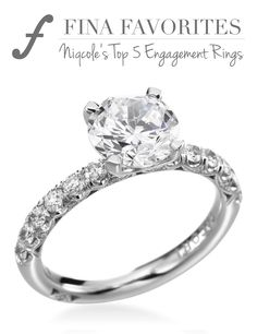 Who doesn't love a classic Tacori solitaire? An elegant four prong crown rests gently along a pave set diamond band.
