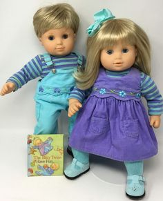 American Girl Pretty in Purple Gift Box NIB Bitty Baby Twins