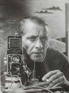 Heinz Hajek-Halke - Autoportrait, 1948. Hajek-Halke, Heinz (1898-1983), German experimental photographer, who spent his first twelve years in Argentina, later studying painting in Berlin. In 1949 he co-founded the fotoform group around Otto Steinert, and from the 1950s onwards, with his experimental photograms, photomontages, and 'light-graphics' , became a leading exponent of a 'subjective', aesthetically autonomous medium unconcerned about the representation of objective reality.
