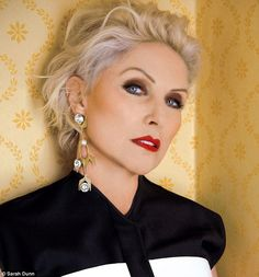 Debbie Harry  66. (Blondie)  ...This looks like Mariska's (blue dress) 'do, but just swept back with some lift.