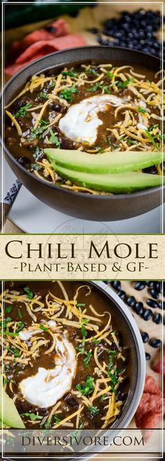 Chili Mole - a delicious modern plant-based chili with peanut, chocolate, and spices