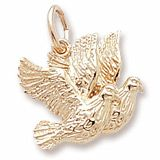 Turtle Doves Charm $30.50 http://www.charmnjewelry.com/category/gold/Love_and_Marriage_Charms.htm  #WeddingCharm