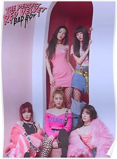 """Red Velvet is a South Korean girl group formed by SM Entertainment. The group debuted on August with the digital single """"Happiness"""" and four group members: Irene, Seulgi, Wendy and Joy. In March Yeri was added into the group. Irene Red Velvet, Red Velvet Joy, Velvet Heart, Black Velvet, Seulgi, Kpop Girl Groups, Korean Girl Groups, Kpop Girls, Girls Generation"""