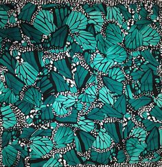 Silk Monarch Scarf in emerald green by Pineda Covalin at Pace Farias Collections in Plaza Frontenac in St Louis
