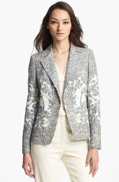 Definitely splurge-worthy!  ESCADA 'Billein' Optic Tweed Single Button Blazer | Nordstrom