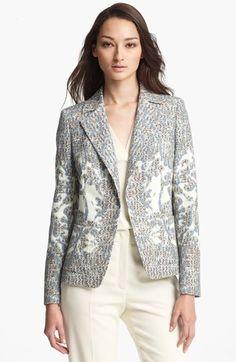 ESCADA 'Billein' Optic Tweed Single Button Blazer available at #Nordstrom