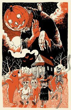 Vintage Halloween Illustration at DuckDuckGo Retro Halloween, Halloween Kunst, Halloween Horror, Holidays Halloween, Halloween Crafts, Happy Halloween, Vintage Halloween Images, Halloween 2018, Halloween Poster