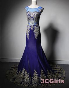 Prom 2015, luxuary navy blue chiffon lace long train evening dress for teens,ball gown, long prom dress, occasion dress #3cgirls #promdress -> http://www.3cgirls.com/#!product/prd1/4220033941/luxuary-navy-blue-chiffon-train-lace-evening-dress