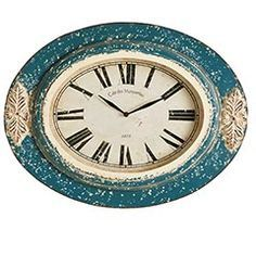pier 1 clocks, wooden teal - Google Search