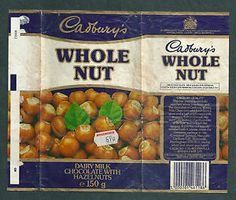 Cadburys Whole Nut . My sisters chocolate now these choices had nuts Old Sweets, Vintage Sweets, Retro Sweets, Vintage Toys, 1980s Childhood, My Childhood Memories, Sweet Memories, Good Old Times, The Good Old Days