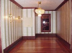 Parquet Kit: Rive Cherry Border [BPPQ107C] - $20.00 : Miniature Dollhouses & Doll House Supplies | Earth & Tree Miniatures & Dollhouses Dollhouse Interiors, Doll House Wallpaper, Dollhouses, Cherry, Dining Room, Miniatures, Rooms, Earth, Kitchen