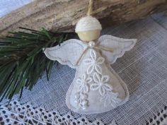 Angel Christmas Ornament Handmade Angel Tree Ornament