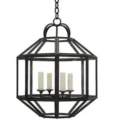 """Umbrian Lantern by Formations.  26½""""DIA X 32½""""H.  Limited Custom sizes available."""