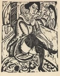 Ernst Kirchner,1880-1970, wood cut