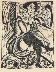 Ernst Kirchner,1880-1970, wood cut