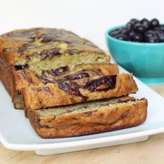 Blueberry Swirl Banana Bread on MyRecipeMagic.com, going to try and make a sugarless version!
