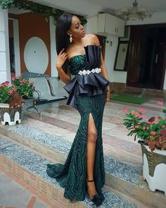 Stunning Aso Ebi Styles For 2018 African Lace Styles, African Lace Dresses, Ankara Styles, African Fashion Ankara, African Print Fashion, Africa Dress, African Attire, Look Fashion, Chic Outfits