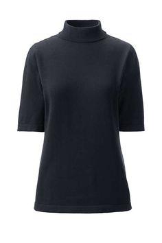 8e07f680f128f3 Women s Supima Elbow Sleeve Mock Neck Sweater