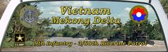 Custom Designed Vietnam Mekong Delta 9th Infantry 3/60th Riverine Patrol Mural.