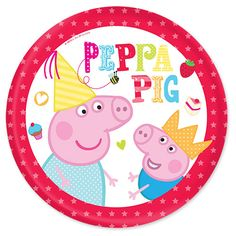 Peppa Pig Party Time Plates - Peppa Pig Party Supplies - Party Ark