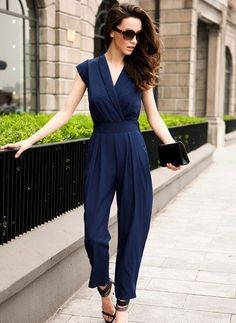 Sexy and Fine Blue Jumper Pants Asos Jumpsuit, Formal Jumpsuit, Jumpsuit Outfit, Jumpsuit With Sleeves, Cream Jumpsuit, Summer Jumpsuit, Jumper Outfit Jumpsuits, Jumpsuit Style, Yellow Jumpsuit