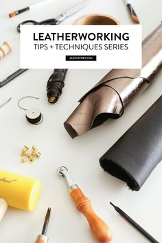 March is all about leatherworking tips + techniques on the Cloth Story blog. HERE'S WHAT YOU CAN LOOK FORWARD TO: - Leatherworking tools + supplies - How to choose + where to buy leather - Saddle-stitching two ways - How to attach rivets, snaps + buttons - How to attach buckles Plus! We'll work on some DIY projects with tips and techniques mixed in, so you can put what you've learned so far into practice. Come join the fun, get inspired + learn something new!