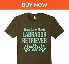 Mens World s Best Labrador Retriever Dad shirt 3XL Olive - Relatives and family shirts (*Amazon Partner-Link)