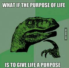 Philosiraptor -- Purpose of life