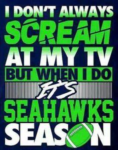 It's Seahawks Season!!! #GoHawks #SeahawksSB50 #SuperBowl3Pete