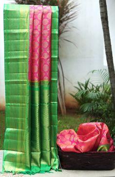 Lakshmi Handwoven Kanjivaram Korvai Silk Sari 000449 - Parisera