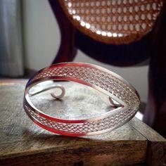 Bracelete Pianta: vai bem em qualquer país, qualquer cidade, qualquer evento! Prata 950 + Filigrana + Pizzo #versatil #cioccomio #fattoamano #gioielli #jewelry #handmade #autoral #arte