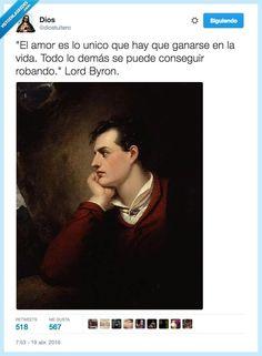 Lord Byron: Gran poeta, mejor ladrón por @diostuitero   Gracias a http://www.vistoenlasredes.com/   Si quieres leer la noticia completa visita: http://www.estoy-aburrido.com/lord-byron-gran-poeta-mejor-ladron-por-diostuitero/