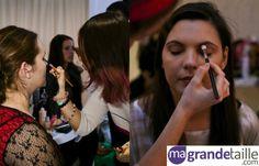 Brigitte Models' Plus Size Model Search : Sabrina, Amarylis and Jennifer are getting ready for the photo shoot // Trois finalistes du casting mannequin grande taille en pleine séance maquillag #beauty #curvy #makeup