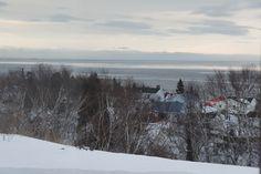 L'hiver sur le village de Tadoussac