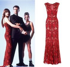ef103fe8ca Bond Girl Style - Bond Girl Elektra King in The World is Not Enough. Get  the look with the red Mayfair Dress. A perfect Bond Girl dress.