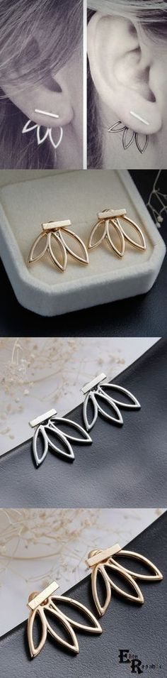 Only $ 3.23 Leaf Flower Elegant Ear Stud Earrings