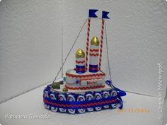Свит-дизайн 23 февраля День защиты детей День рождения Моделирование конструирование Пароходик из шоколадок фото 4