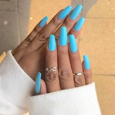 Are you looking for summer nails colors designs that are excellent for this summer? See our collection full of cute summer nails colors ideas and get inspired! Nails 61 Summer Nail Color Ideas For Exceptional Look 2019 My Nails, Pink Nails, Neon Blue Nails, Nexgen Nails Colors, Neon Nail Colors, Long Gel Nails, Short Nails, Really Long Nails, Blue Acrylic Nails