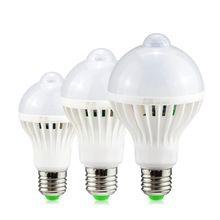 Led Pir Motion Sensor Lamp E27 220v 5w 7w 9w Automatic On Off Led