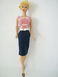 Cruise Stripe dress The Fashions of 1959 - Barbie Teenage Fashion Model