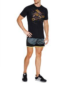 StylerunnerMAN. BCNU Athletic Short, and Adidas Tee Gym Fashion, Sport Fashion, Fitness Fashion, Mens Fashion, Sport Style, Gym Style, Athletic Gear, Athletic Shorts, Fitness Style