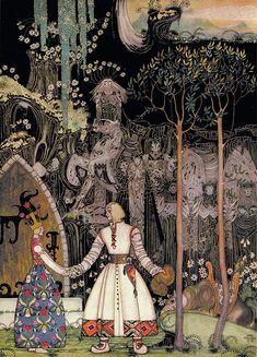 """East of the Sun and West of the Moon"", illustrated by Kay Nielsen, 1924. http://www.pookpress.co.uk/project/kay-nielsen-biography/"