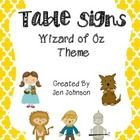 These cute Wizard of Oz Table posters are great visual to use for anything in the classroom.   The characters on the posters include Dorothy Toto L...