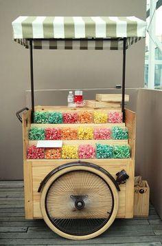 Food Trucks, Coffee Carts, Coffee Shop, Bike Food, Sweet Carts, Candy Cart, Gastro, Flower Cart, Food Truck