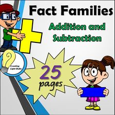 This fact families pack is designed to allow your students the opportunity to identify and explore the connection between addition and subtraction.