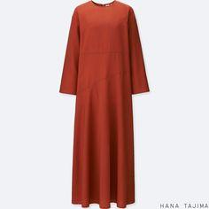 e31a9d4346ce WOMEN HANA TAJIMA TENCEL FLARE LONG SLEEVE LONG DRESS | UNIQLO UK £49.90  Spring Summer
