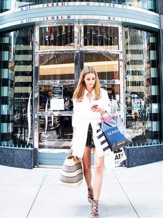 Olivia Palermo in New York  #shirtstyling with #theshirtmuse